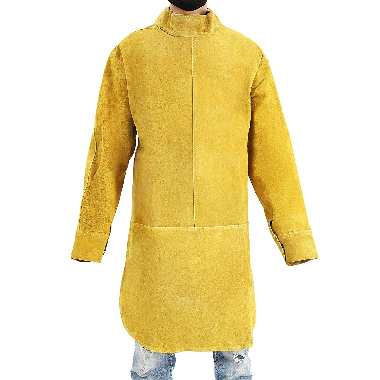 ENJOHOS Babimax Tablier de Soudage Tablier de soudure Tablier Soudure Intégré Veste Vêtements de protection Cuir durable 100cm Long