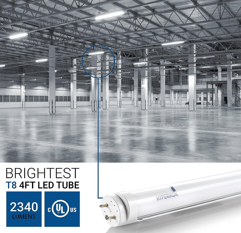 Hyperikon T8 Tubo LED - 120cm - casquillo G13-18W (equivalente a ...