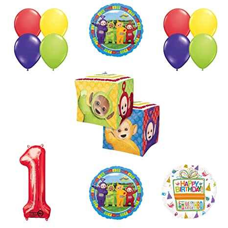 Image Unavailable Not Available For Color Teletubbies 1st Birthday CUBZ Balloon Party Supplies And Decorations