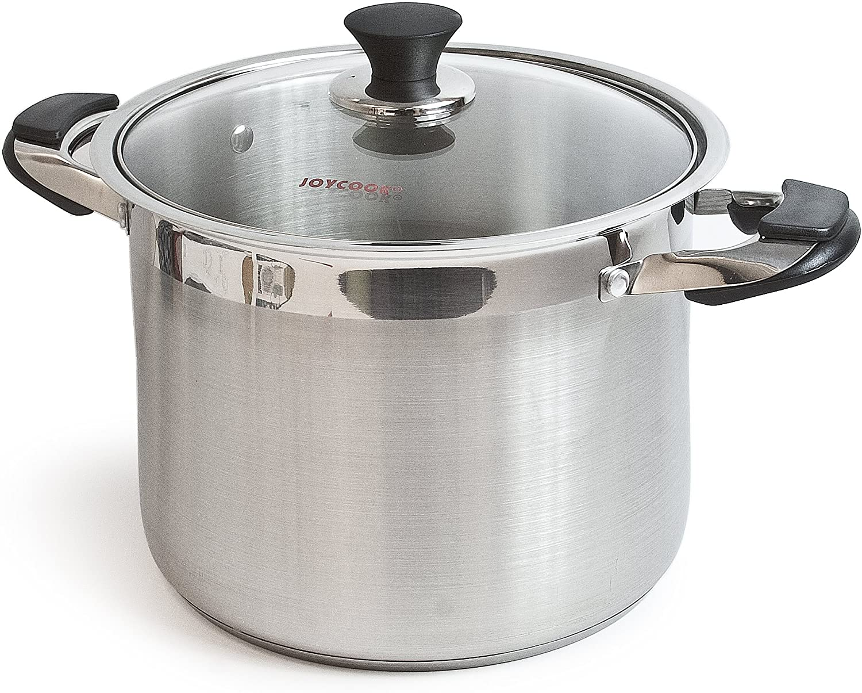 Joycook Stainless Steel Stock Pot w/Glass Lid 30QT