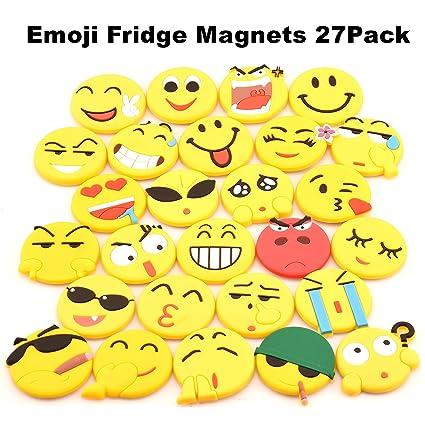 SLD Emoji imanes de nevera 27 unidades, PVC imanes de nevera ...
