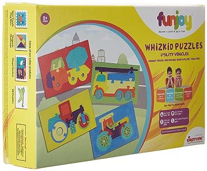 Funjoy Whizkid Puzzles - Utility Vehicles