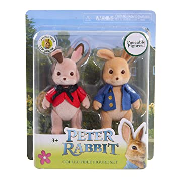 Peter Rabbit Movie~2 Pack Collectible Figure Set Poseable Figures And Flopsy