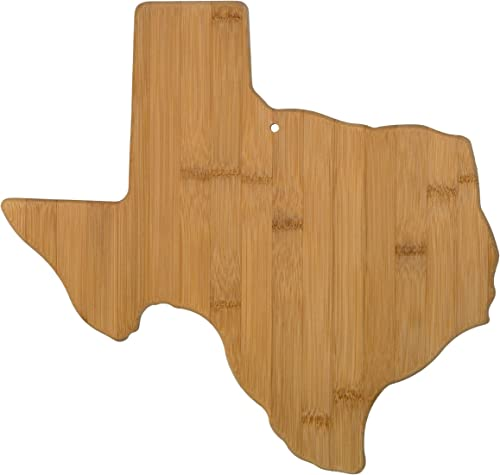 Totally Bamboo Texas State Shaped Bamboo Serving