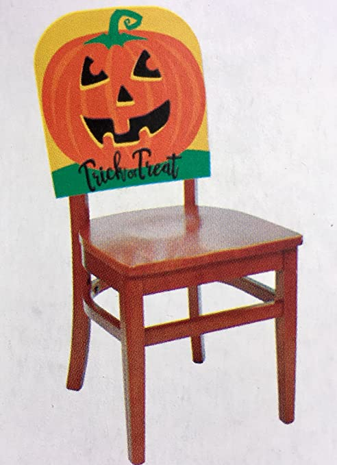 Pleasant Amazon Com Halloween Chair Covers Trick Or Treat Pumpkin Caraccident5 Cool Chair Designs And Ideas Caraccident5Info