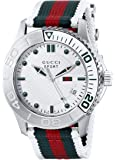 Gucci G-Timeless Dive Stainless Steel Men's Watch with Nylon Strap(Model:YA126231)
