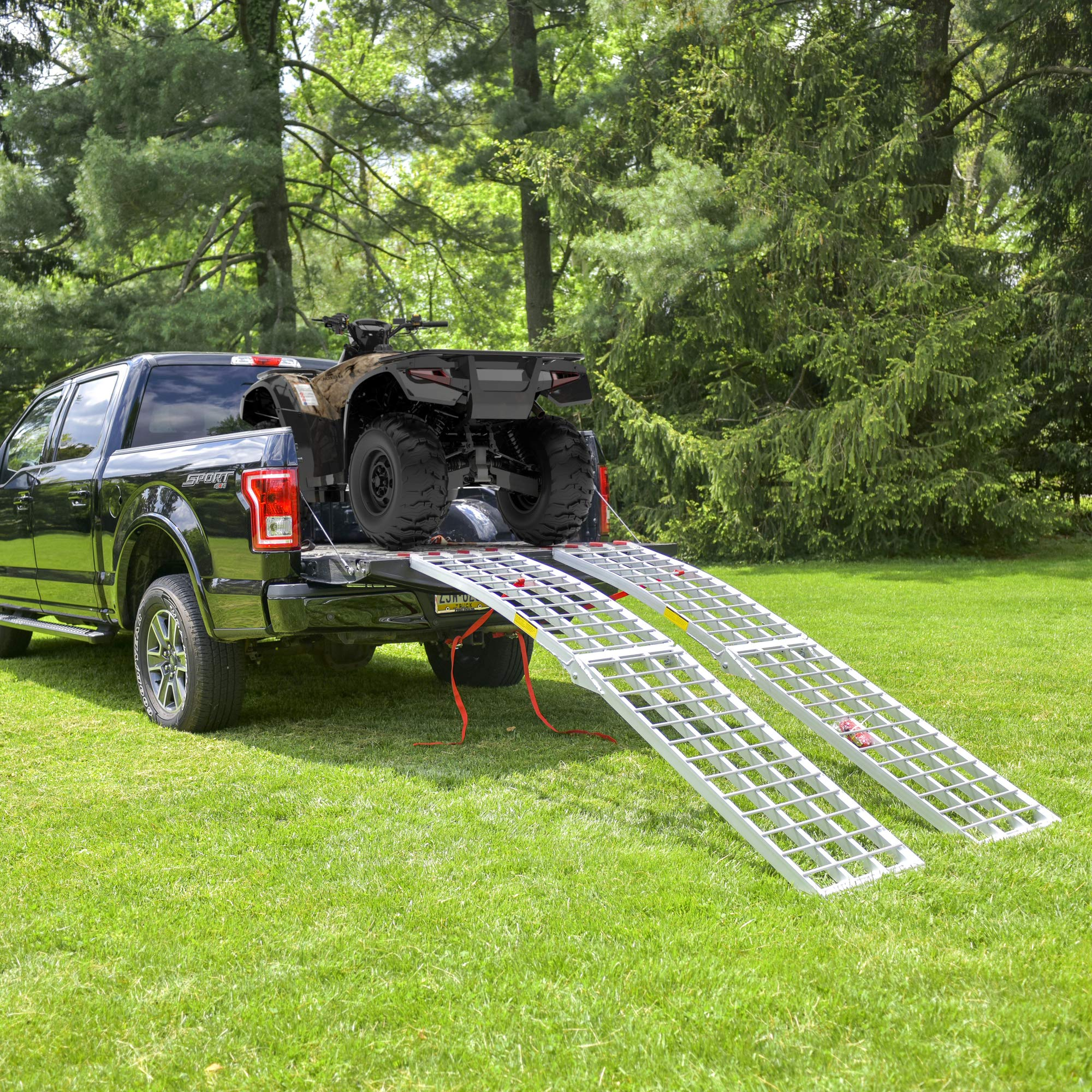 EmpireCovers Aluminum Folding ATV/UTV Ramp - 7.5' Long, 2,000 lb Weight Capacity (Sold as Pair) by EmpireCovers (Image #2)