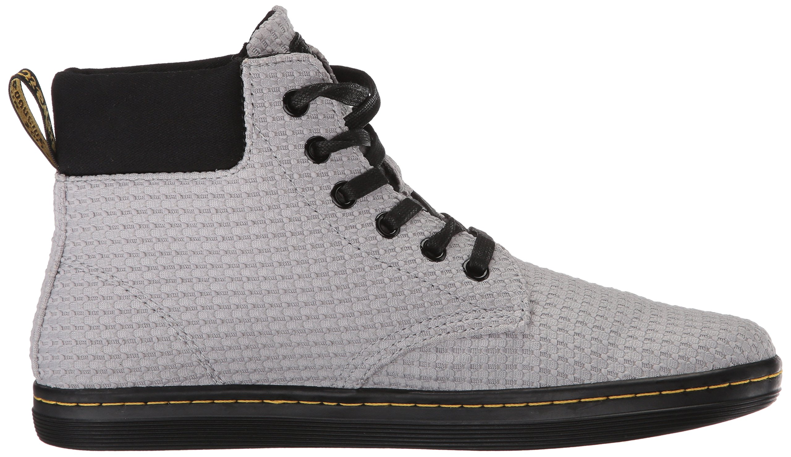 Dr. Martens Women's Maelly WC Fashion Boot, Mid Grey+Black Waffle Cotton+Fine Canvas, 8 Medium UK (10 US) by Dr. Martens (Image #7)
