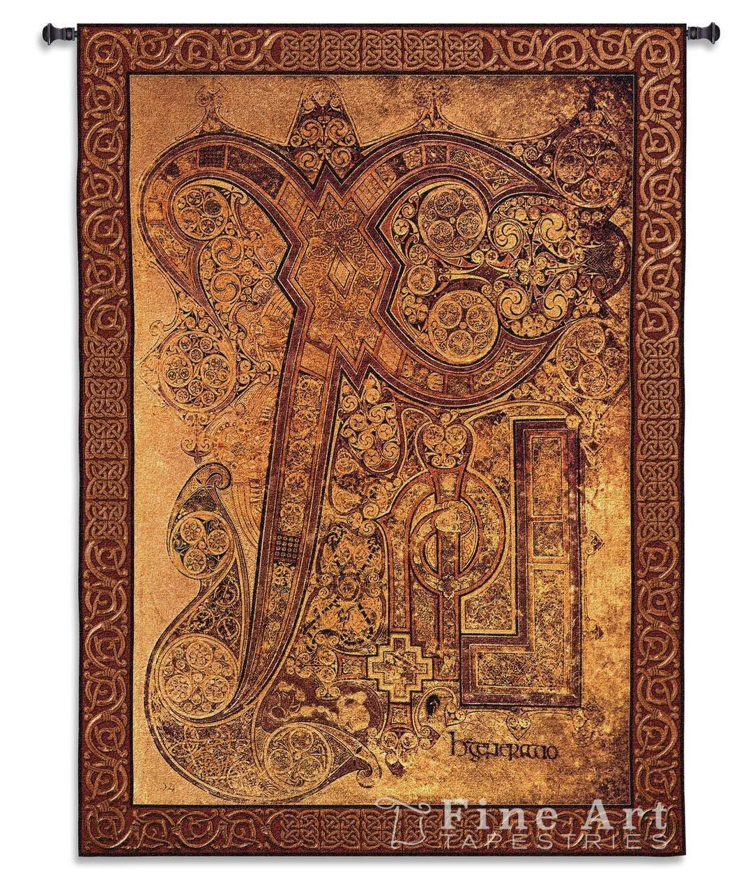 Fine Art Tapestries ''Book of Kells Chi Rho Illumination'' Wall Tapestry