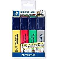 Marcador de Texto, Staedtler, Textsurfer Excel, 364 CWP4-X, 4 Cores Ecxel