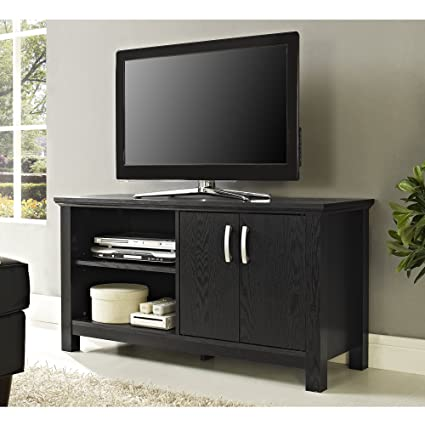 Amazon Com New 44 Inch Wide Television Stand Black Finish With