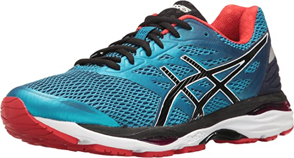 ASICS Mens Gel-Cumulus 18 Running Shoe, Island Blue/Black/Vermilion, 10 M US: Asics: Amazon.es: Zapatos y complementos