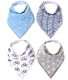 """Amazon Price History for:Baby Bandana Drool Bibs for Drooling and Teething 4 Pack Gift Set For Boys """"Cruise Set"""" by Copper Pearl"""