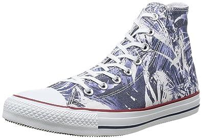 148467C, Unisex-Erwachsene Chuck Taylor Hi Canvas Graphic, Mehrfarbig - Black/White Paint - Größe: 38 EU Converse