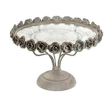 Imax 68029 Rose Pedestal Cake Plate  sc 1 st  Amazon.com & Amazon.com: Imax 68029 Rose Pedestal Cake Plate: Home u0026 Kitchen