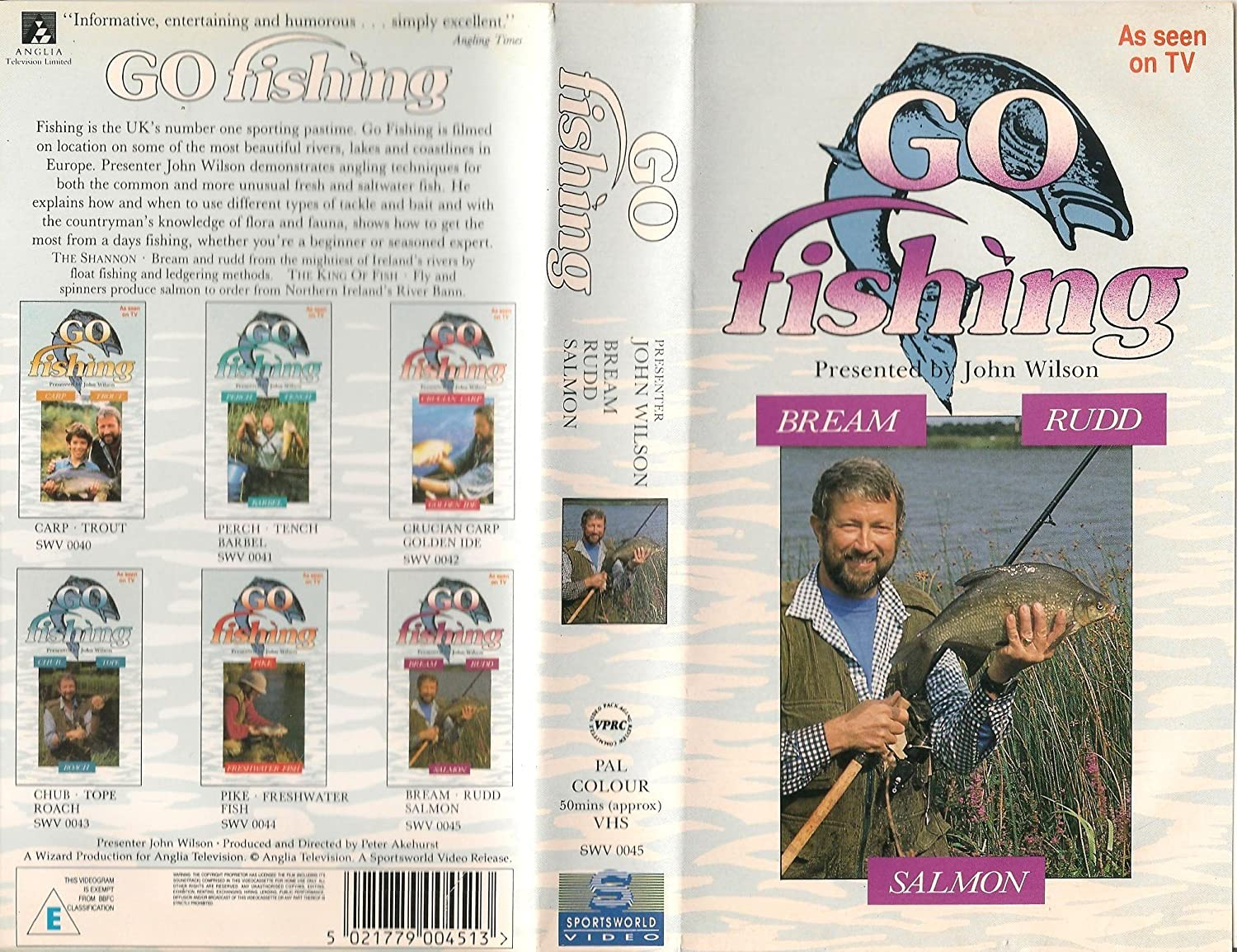 Go Fishing: Volume 12 - Bream, Rudd, Salmon [VHS]: Presenter