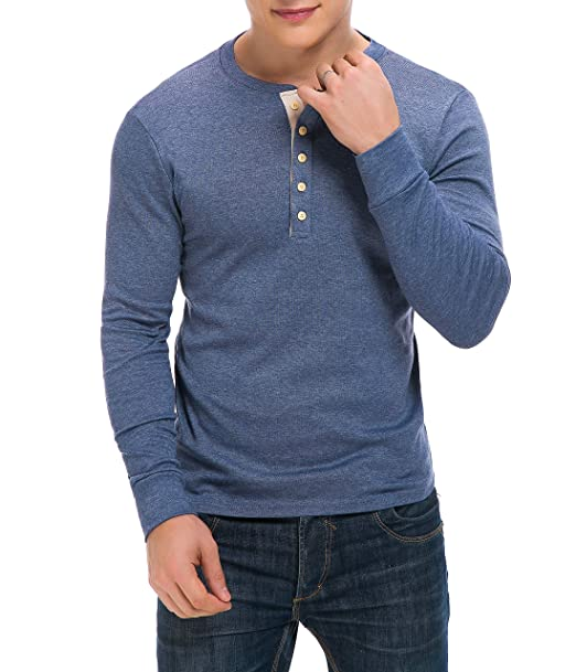 8295f2bd4eb Image Unavailable. Image not available for. Color: Derminpro Men's Henley  Shirts ...
