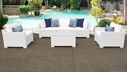 Amazon.com: TKC Monaco 6 piezas conjunto de sofá de mimbre ...