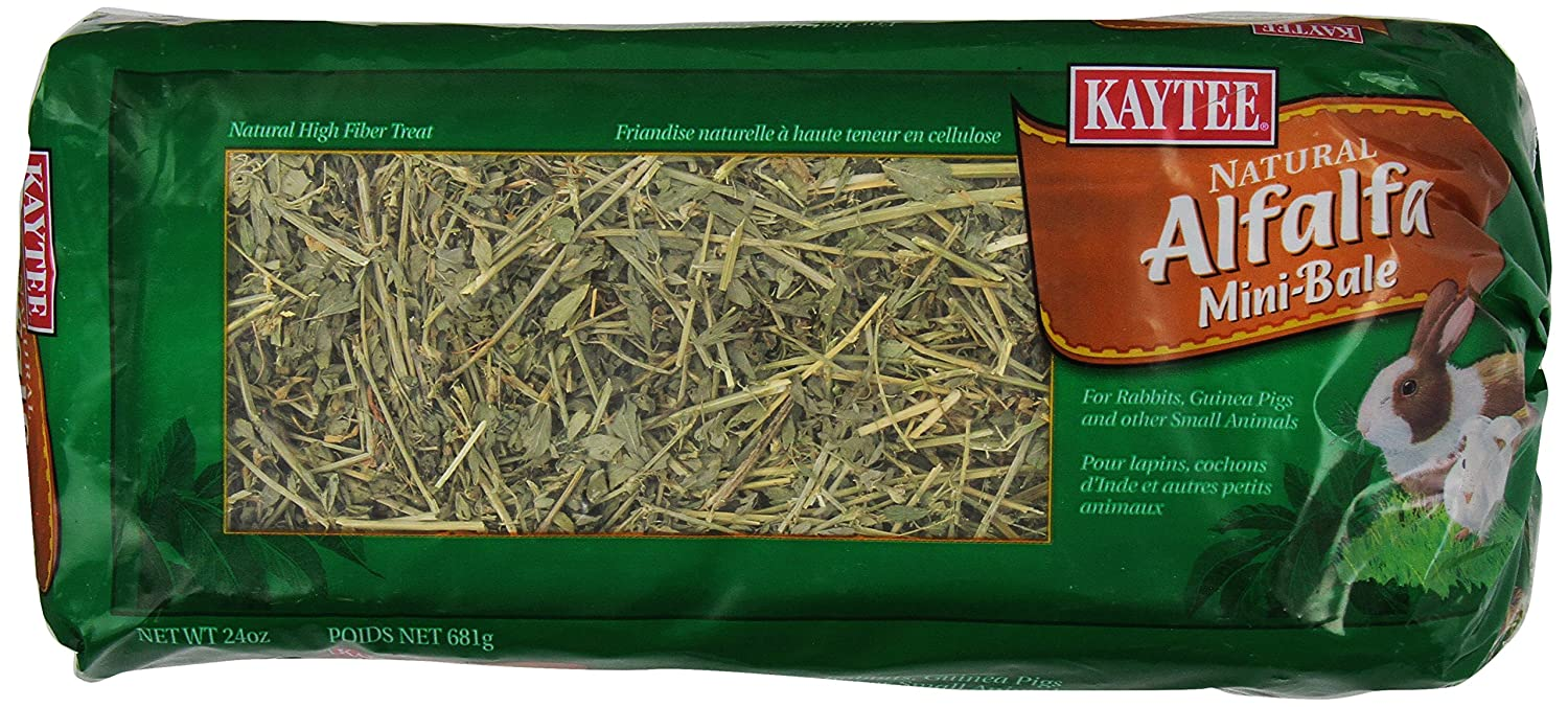 KAYTEE Products 715101 6 Case Alfalfa Mini Bales for Pets, 24-Ounce