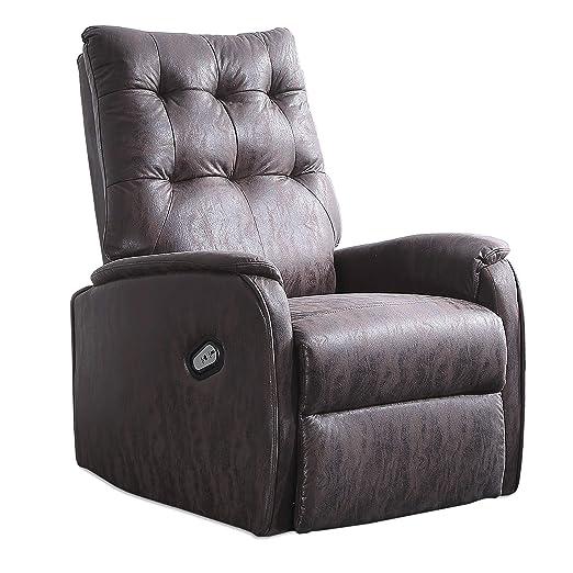 Adec - Swing, Sillón Relax Elevador Lift levantapersonas, tapizado en Tejido Color Chocolate Vintage, butaca Descanso, Medidas: 70 cm (Ancho) x 77 cm ...