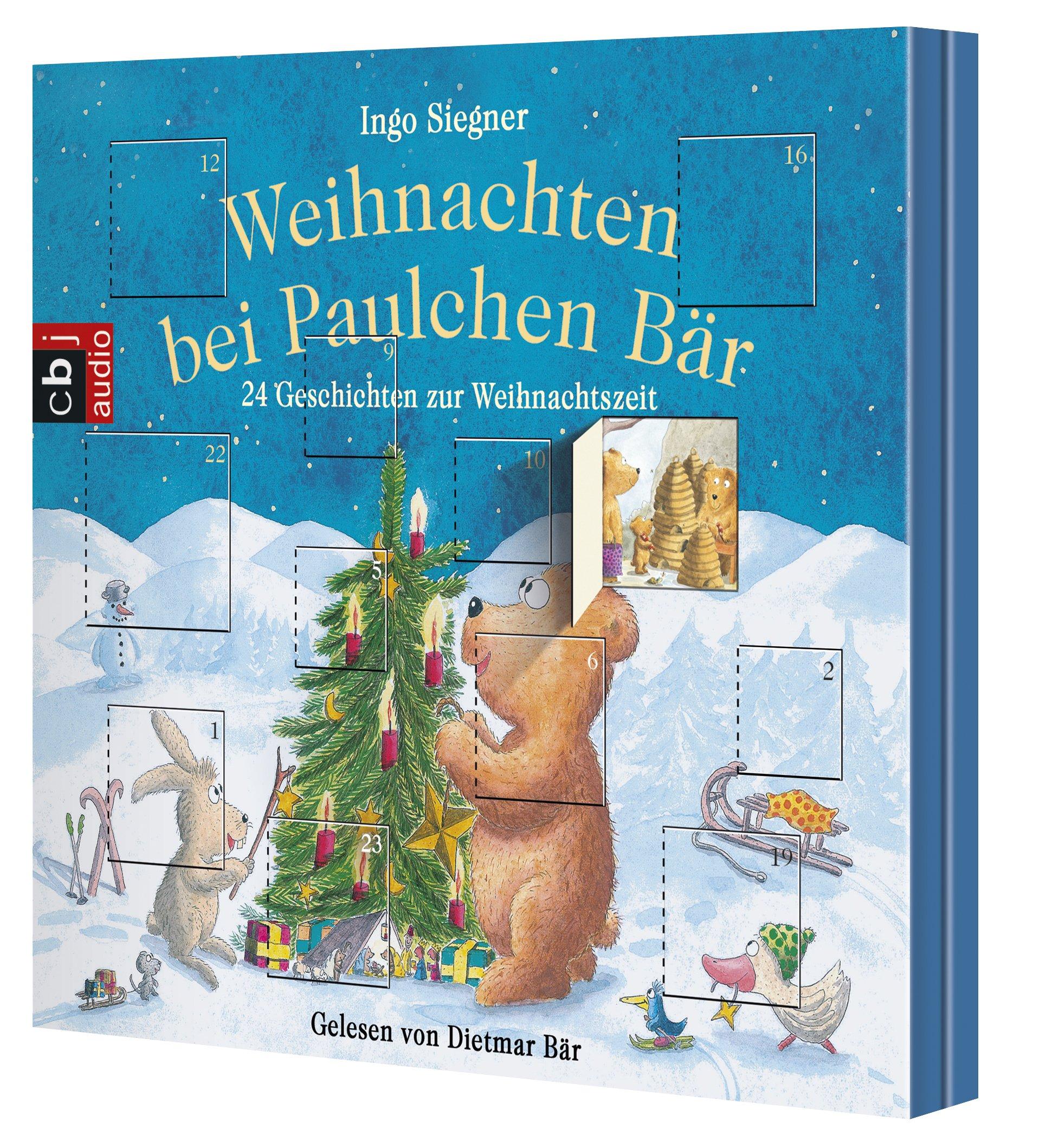 Weihnachten bei Paulchen Bär; 24 Geschichten zur Weihnachtszeit ; 1 Bde/Tle; Sprecher: Bär, Dietmar; Deutsch; Audio-CD ; Hörbücher