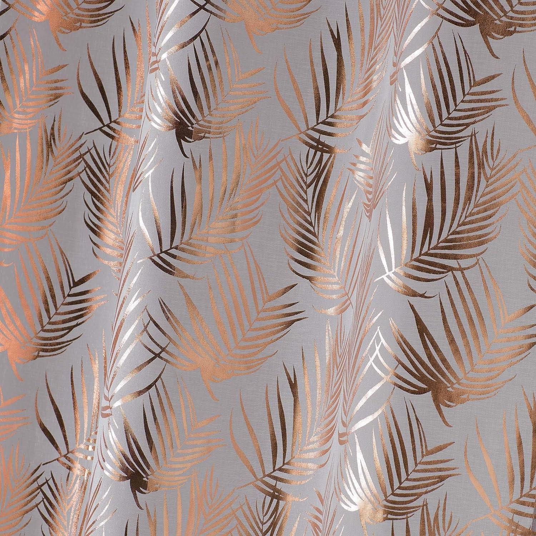 PANNEAU A OEILLETS 130 x 240 CM VOILE SABLE IMPRIME METALLISE KOLZA BLANC//ARGENT