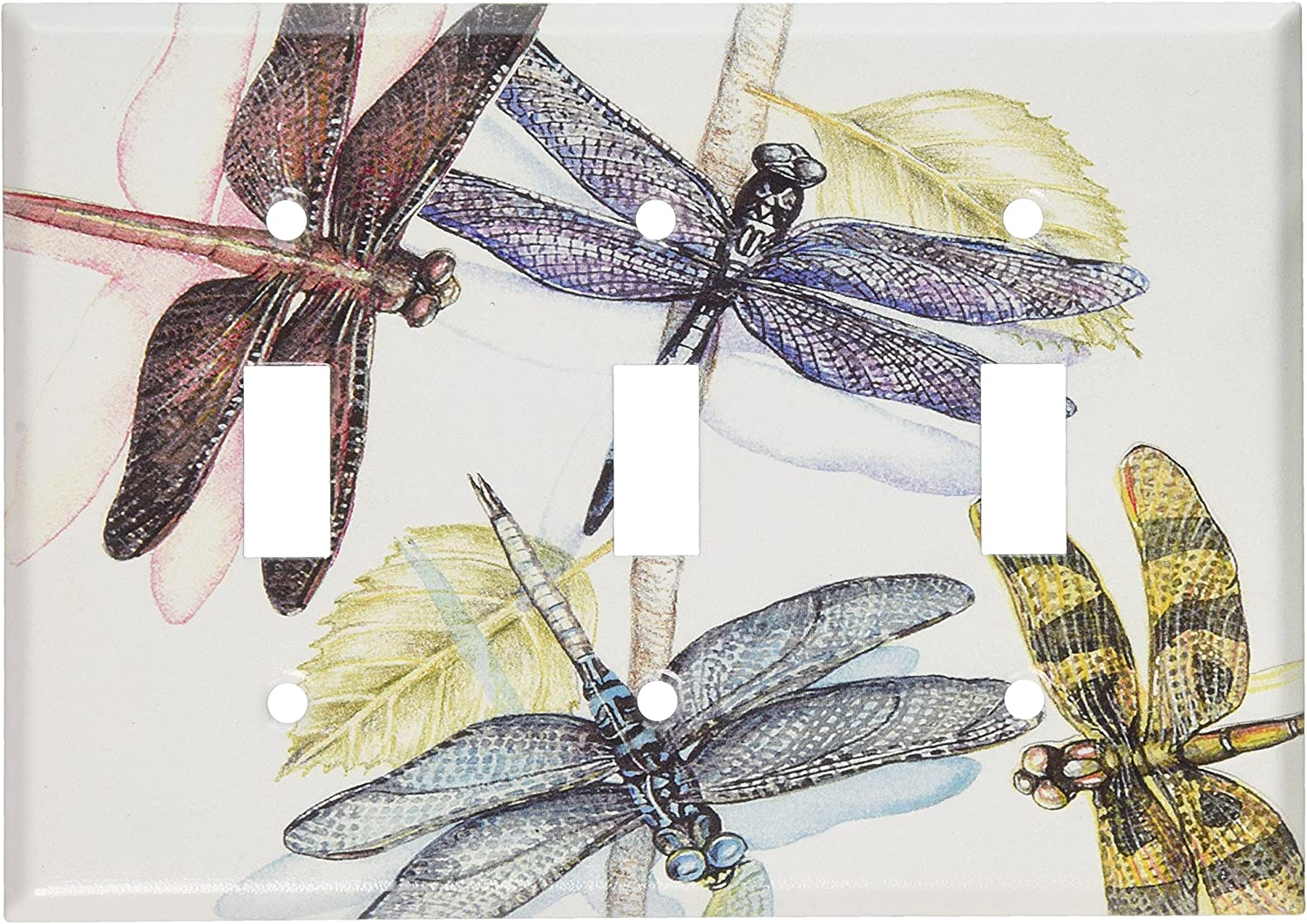 Art Plates - Dragonflies Switch Plate - Triple Toggle