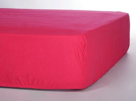 Sábana Bajera ajustable 100% algodón. FUCSIA 105. alta calidad ...