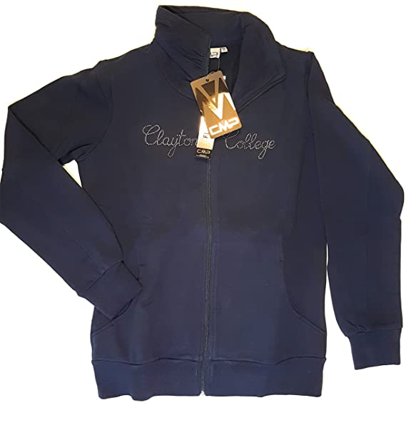 0ebb49915e CMP Felpa con Zip Donna Blu: Amazon.it: Abbigliamento