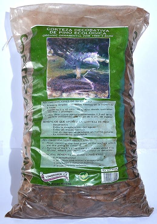 Corteza de Pino Ecológica - Sacos de 45 L: Amazon.es: Jardín