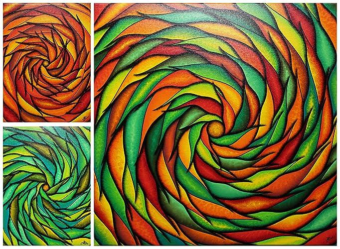 Quadri moderni : Spirali colorate Serie 2 (50 x 69 cm): Amazon.it ...
