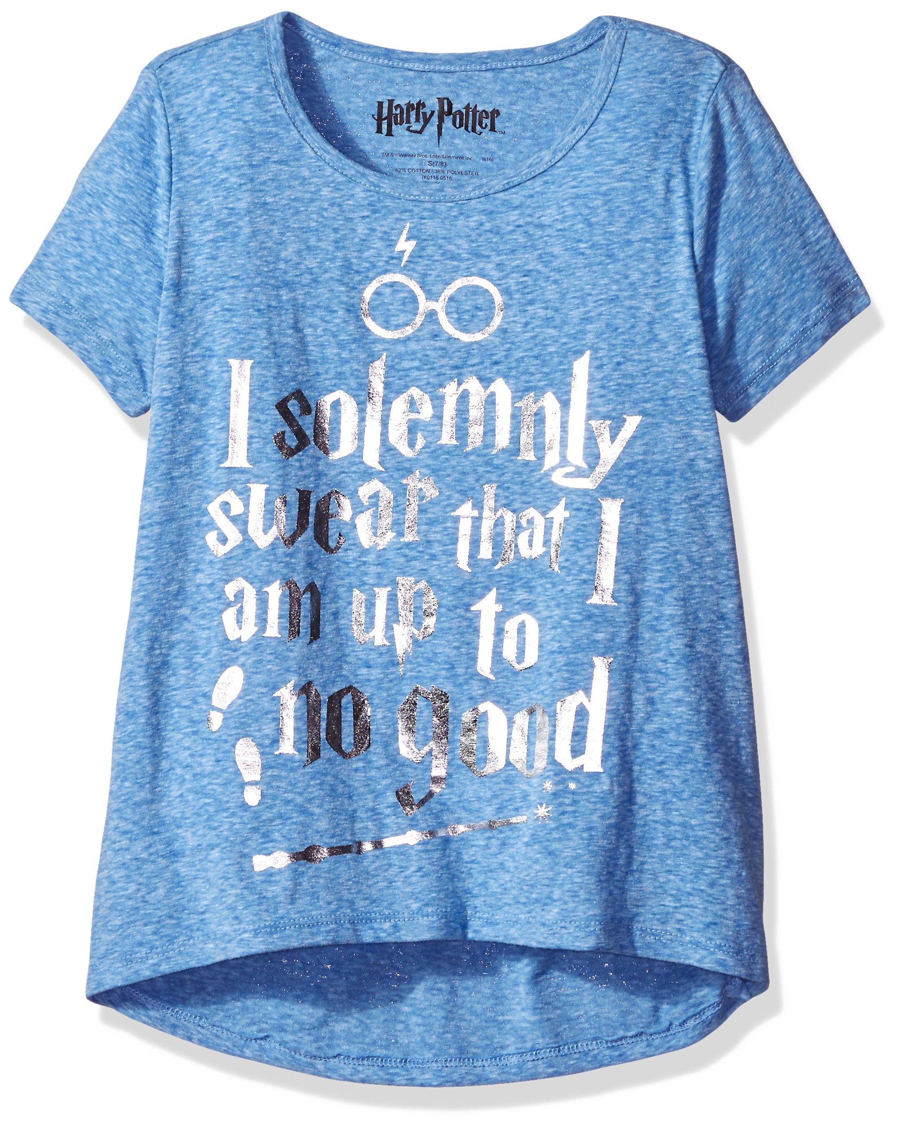 Harry Potter Big Girls' Fashion T-Shirt Shirt, Royal Twinkle, Medium