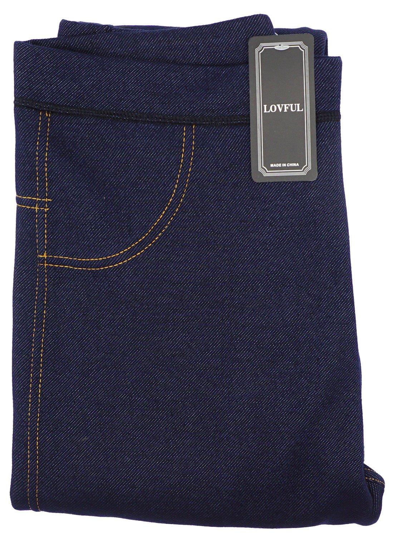 Lovful Women's Winter Warm Denim Legging Fake Jeans Thick Full Length Leggings Fleece Lined Jeggings,Dark Blue by Lovful (Image #6)