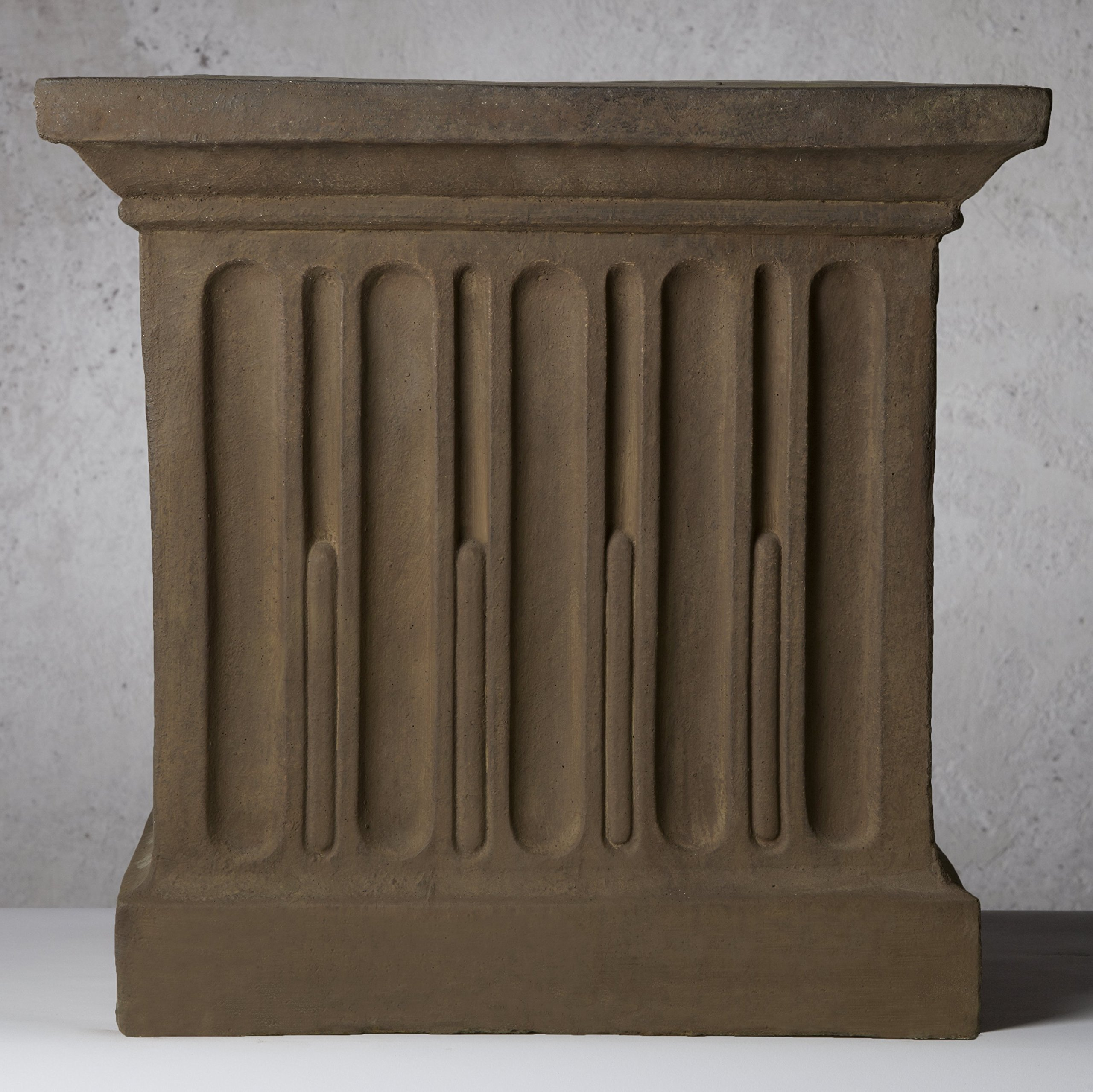Campania International 2931-PV Pedestal Planter, Large, Pietra Vecchia Finish