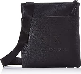 Armani Exchange - Small Flat Crossbody Bag, Bolso bandolera Hombre