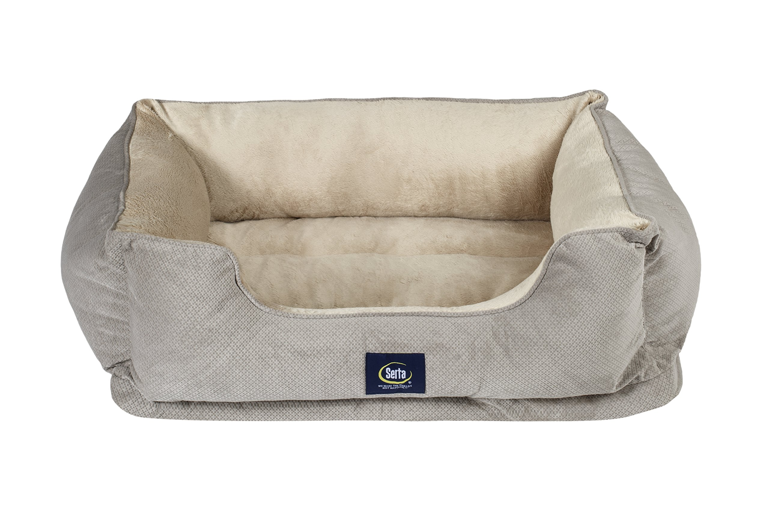 Serta Ortho Cuddler Pet Bed, Grey