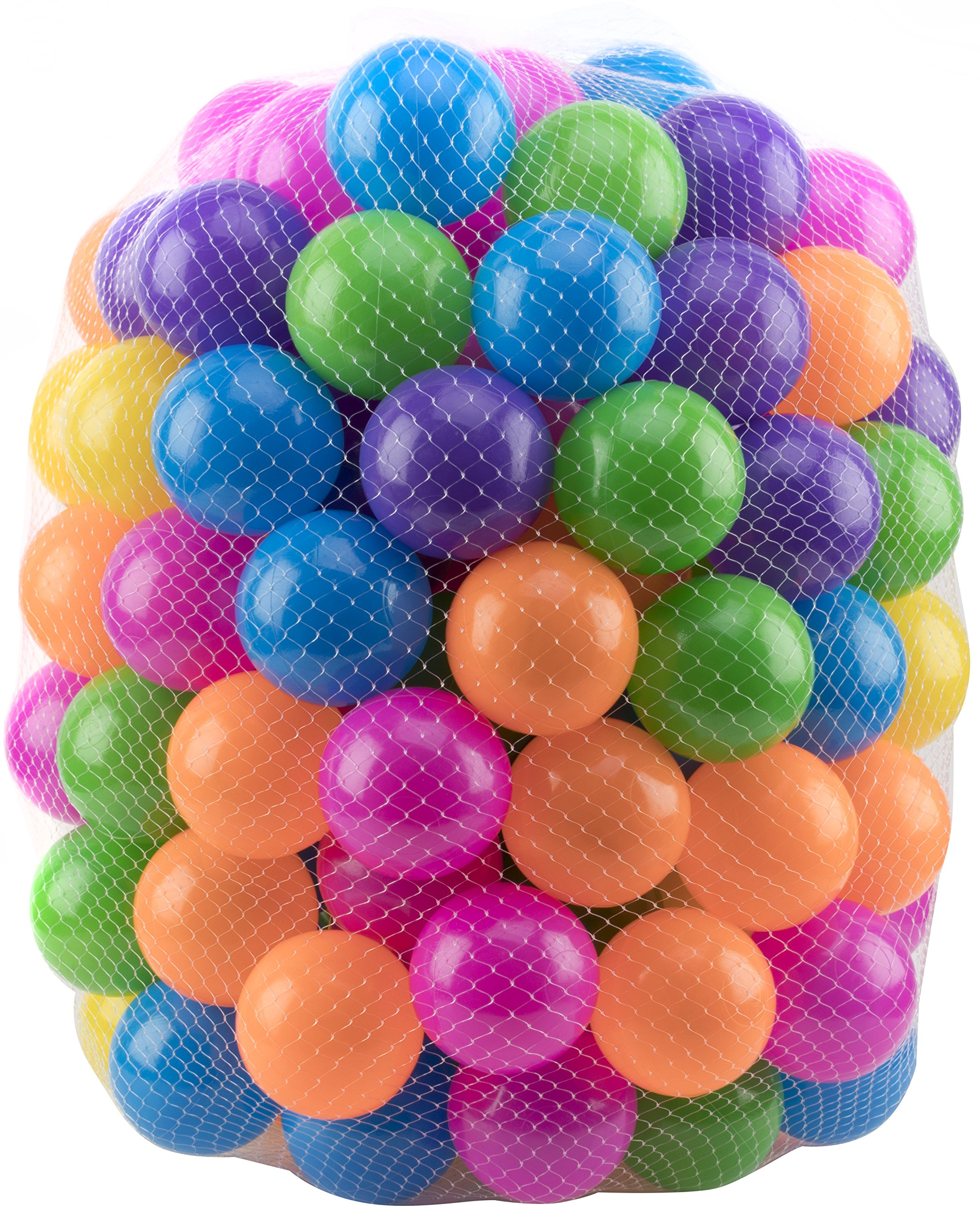 Play22 Ball Pit 200 Pack - Ball Pit Balls Crush Proof BPA Free - Includes Reusable Zipper Mesh Bag - Colorful Fun Plastic Balls - Ball Pit for Kids and Baby - Ball Pit for Any Ball Pool - Original by Play22 (Image #3)