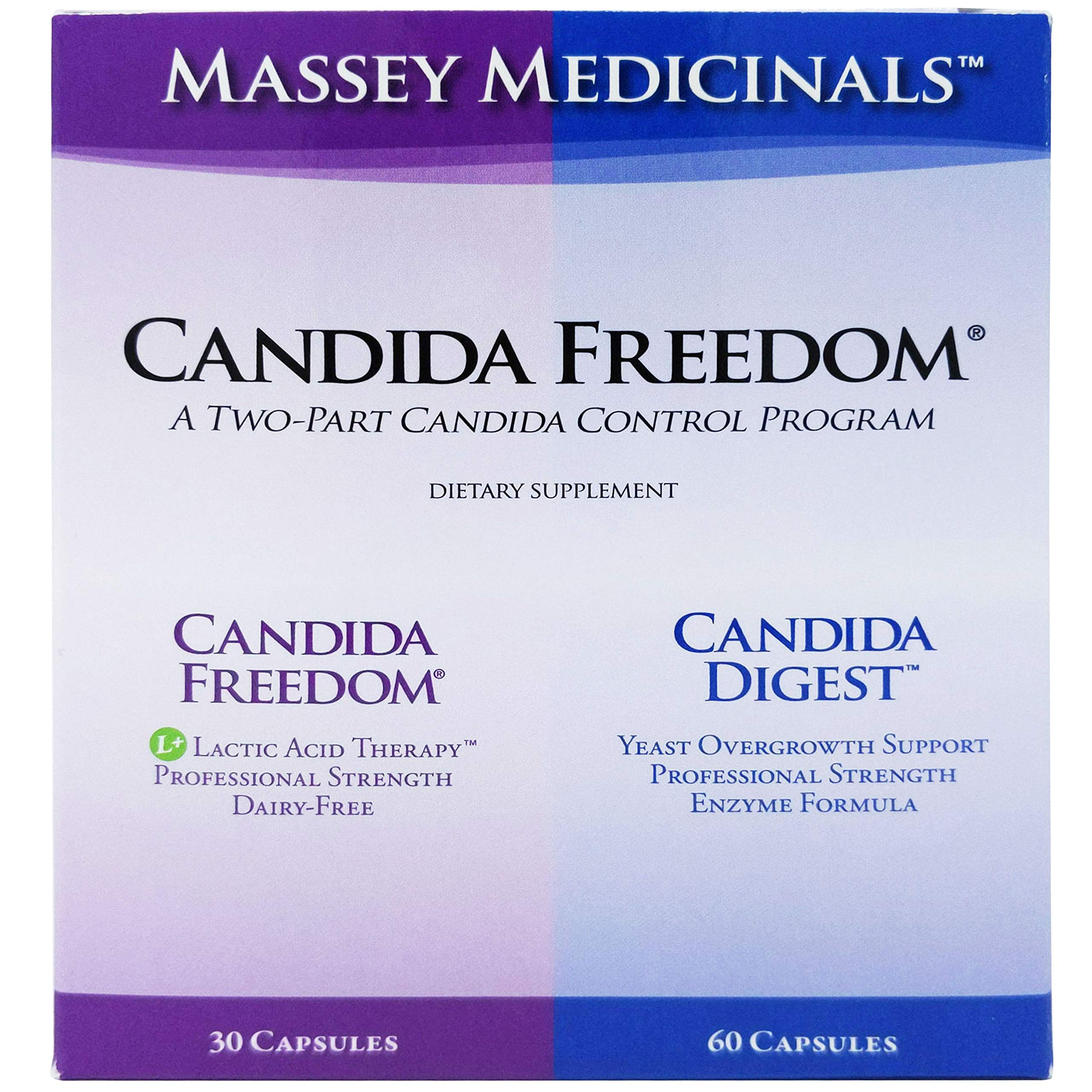 Candida Freedom Two Part Control Program - Probiotic Candida Overgrowth Formula Plus Digestive Enzyme Support by Candida Freedom