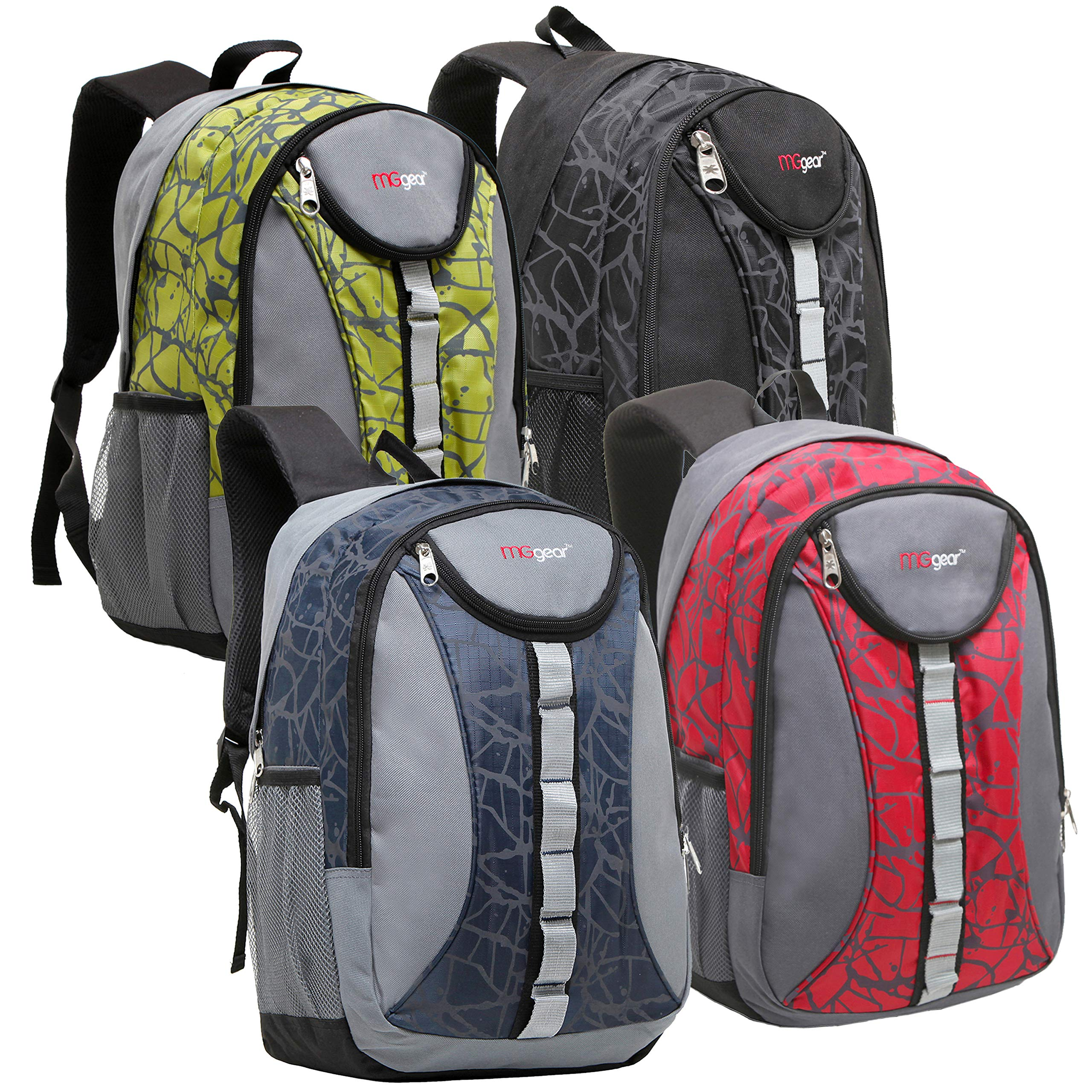Wholesale 18 Inch Heavy Duty Student School Backpack, Bulk Case of 20 Assorted Colors by MGgear