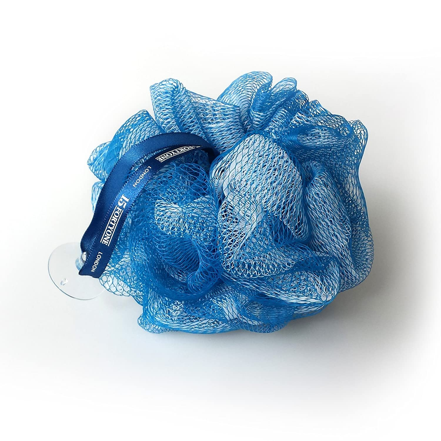 1541 London Exfoliating Bath & Shower Body Puff / Scrunchie / Buffer (Midnight Blue)