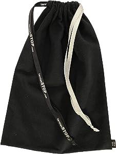 "tarnishSTOP, Luxury Anti-Tarnish Cloth Bag for Silver Storage, Silverplate, Sterling, Jewelry, Flatware, Holloware, Black, 13""x10"". Made in USA"