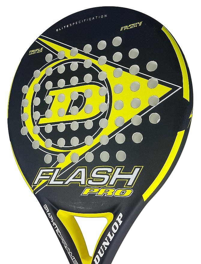 Dunlop FLASH PRO - Pala de pádel 38mm, 2018, nivel iniciación, color amarillo: Amazon.es: Deportes y aire libre