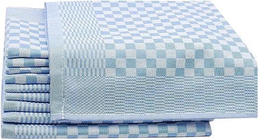 ZOLLNER 10 Trapos de Cocina, algodón, a Cuadros Azules, 46x70 ...