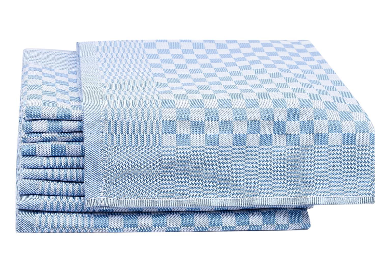 ZOLLNER 10 Trapos de Cocina, algodón, a Cuadros Azules, 46x70 cm: Amazon.es: Hogar