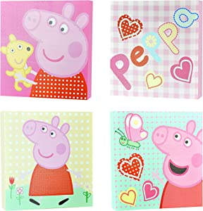 Peppa Pig Square Canvas Wall Art (4 Pack)