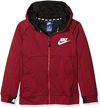 Nike B NSW FZ Av15 Chaqueta, niños, Rojo (Noble Red/Black/White), M: Amazon.es: Deportes y aire libre