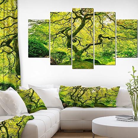 Green Abstract Floral Wall Art Print No 332
