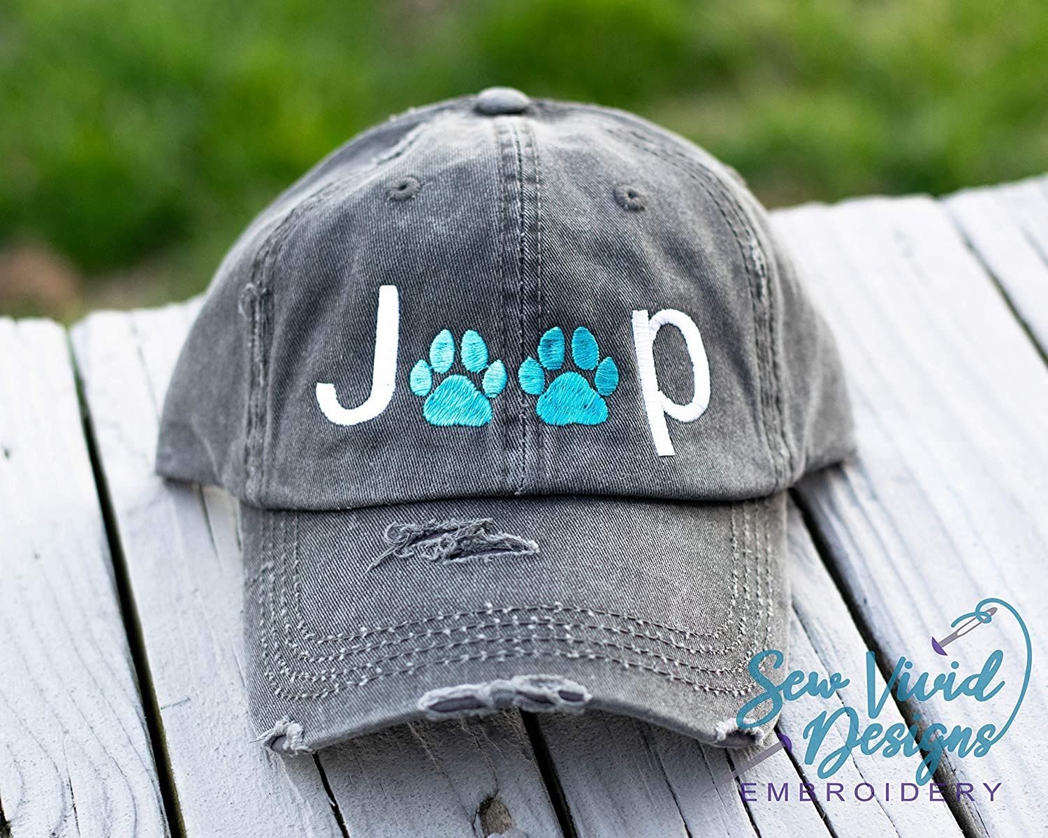 Jeep Hat With Paw Prints