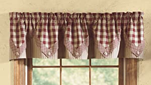 "Park Designs York Point Curtain Valance, 72"" by 15"", Wine"