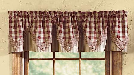 Wine York Shower Curtain Buffalo Check Cotton Farmhouse Bath Park Designs